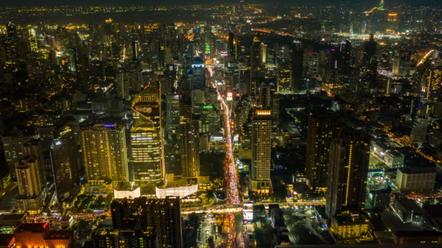 aerial view cityscape at night - jakarta stock videos & royalty-free footage