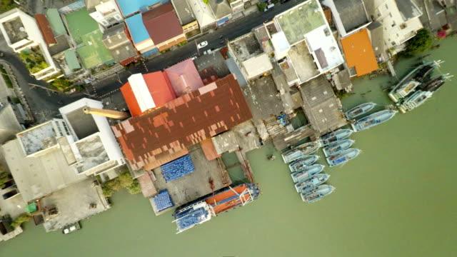 空から見た湾の眺め - フェリーターミナル点の映像素材/bロール