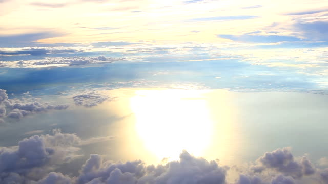 Vue aérienne d'un avion Fonds de nuage de
