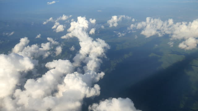 aerial view cloudscape from airplane - antenna aerial stock videos and b-roll footage