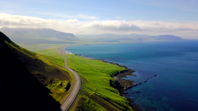 aerial view coast of western iceland - coastline stock videos & royalty-free footage