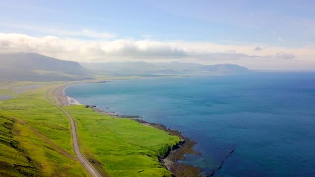 Aerial view Coast of Western Iceland