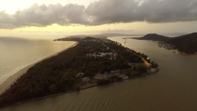 aerial view coastline and sea - songkhla province stock videos and b-roll footage