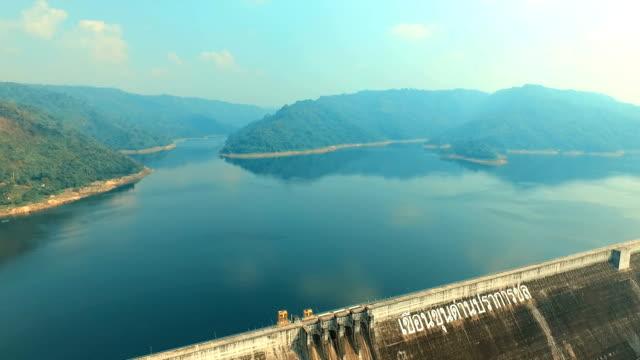Aerial view Concrete dam