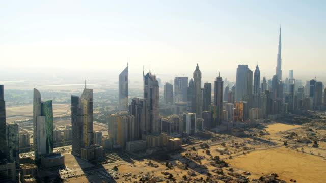 Aerial view cosmopolitan downtown Dubai
