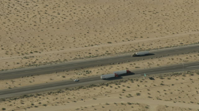 aerial view desert multi lane highway las vegas - nevada stock videos & royalty-free footage