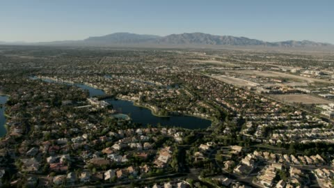 aerial view desert shores diamond bay las vegas - north stock videos & royalty-free footage