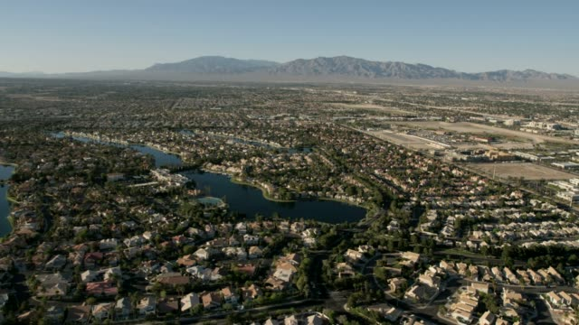 aerial view desert shores diamond bay las vegas - north stock videos & royalty-free footage
