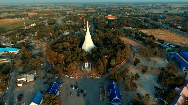 aerial view don chedi monument of suphanburi province asia thailand - ayuthaya province stock videos and b-roll footage