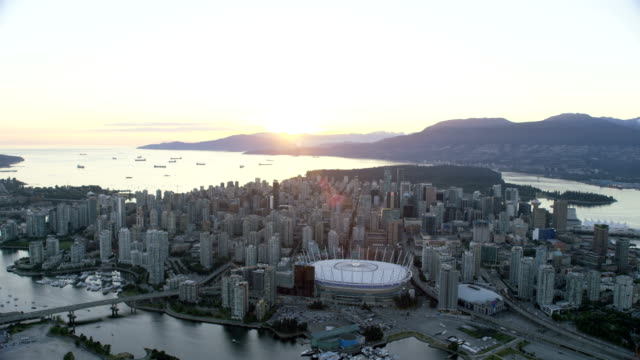 Aerial view Downtown Vancouver British Columbia Canada