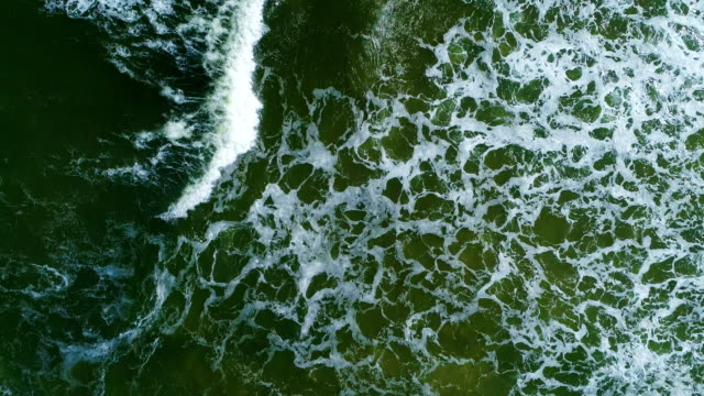 aerial view, drone point of view, punta del este's beach, waves in the ocean, uruguay - tranquillising stock videos & royalty-free footage
