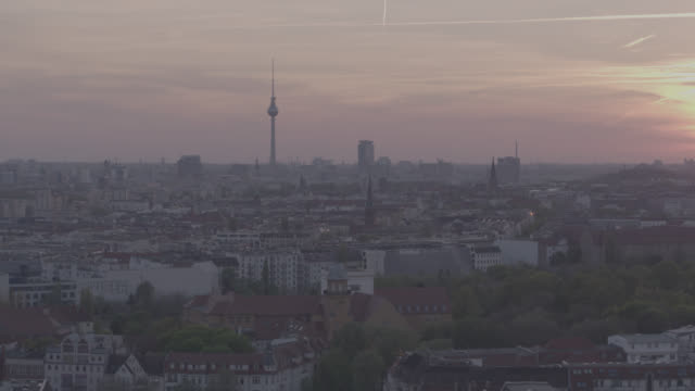Aerial view, drone shot of Berlin, capital of Germany