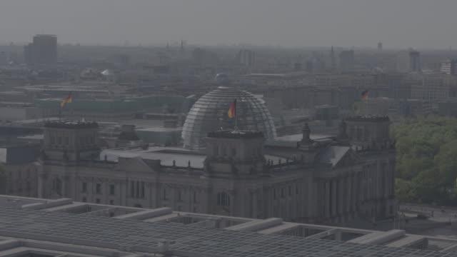 aerial view, drone shot of berlin, capital of germany - berlin stock-videos und b-roll-filmmaterial
