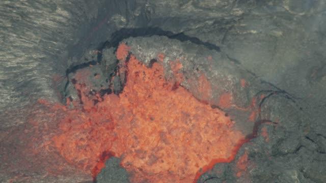 vídeos y material grabado en eventos de stock de aerial view earths power natures fury molten lava - 2018