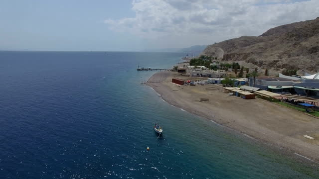 Aerial view - Eilat coral reef and Gulf of Eilat