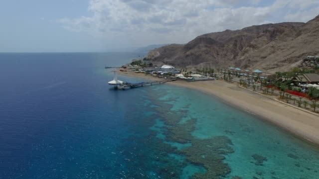 Aerial view - Eilat Coral World Underwater Observatory Marine Park and  Coral Beach Nature Reserve