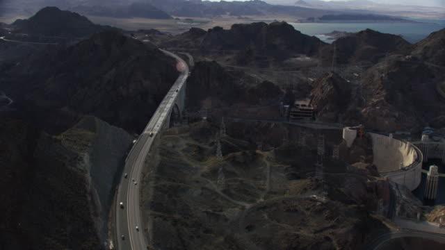 Aerial View Facing North Of The hoover Dam And Mike O'Callaghan–Pat Tillman Memorial Bridge