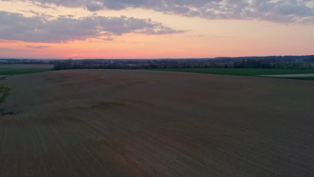 ws aerial view farmer spreading,sowing seeds in idyllic,rural plowed field - dramatic sky stock videos & royalty-free footage