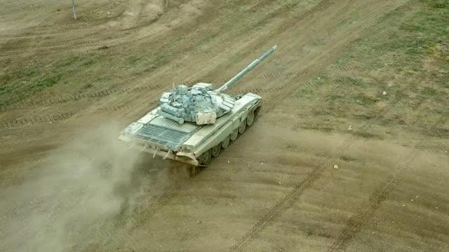 航空写真 - 高速重戦車 - 戦車点の映像素材/bロール