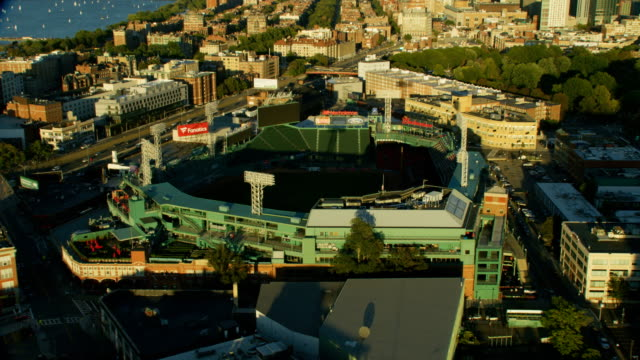 aerial view fenway park red sox boston massachusetts - massachusetts stock videos & royalty-free footage