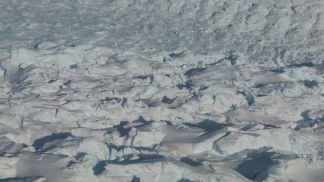 aerial view flying over antarctic icefields - antarctica aerial stock videos & royalty-free footage