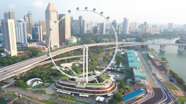 4k aerial view footage of singapore skyline, singapore - aerial stock videos & royalty-free footage
