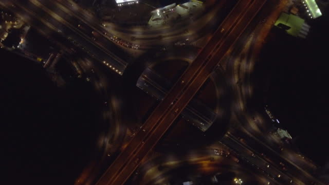 aerial view :freeway traffic - marina bay sands stock videos and b-roll footage