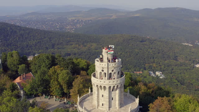aerial view from elizabeth lookout, budapest - eastern european culture stock videos & royalty-free footage