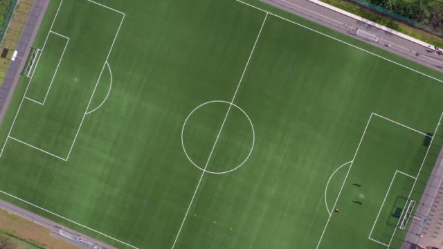 aerial view from soccer field - cerebral cortex stock videos & royalty-free footage