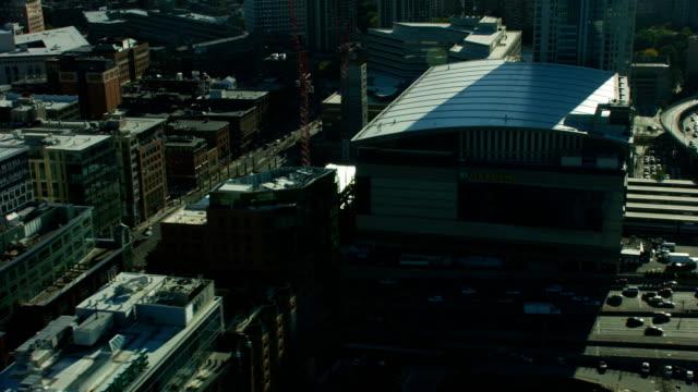 aerial view td garden buildings boston usa - local politics stock videos & royalty-free footage