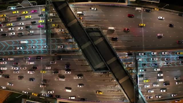 vídeos y material grabado en eventos de stock de vista aérea puerta para autopista - colección