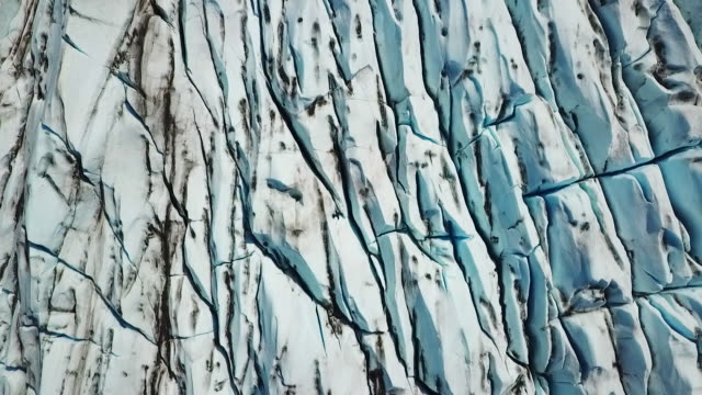 aerial view glacier ice patterns - 氷河点の映像素材/bロール