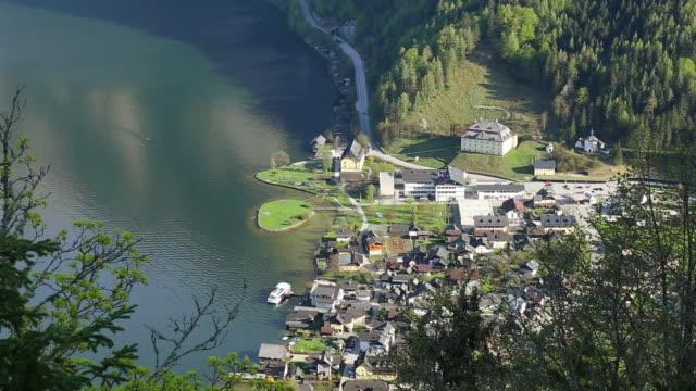 Luftaufnahme: Hallstätter See siehe Hallstatt, Österreich
