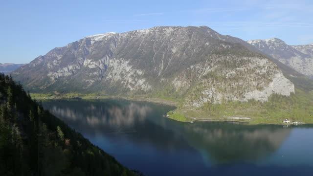 aerial view :hallstatter see lake at hallstatt ,austria - traditionally austrian stock videos & royalty-free footage