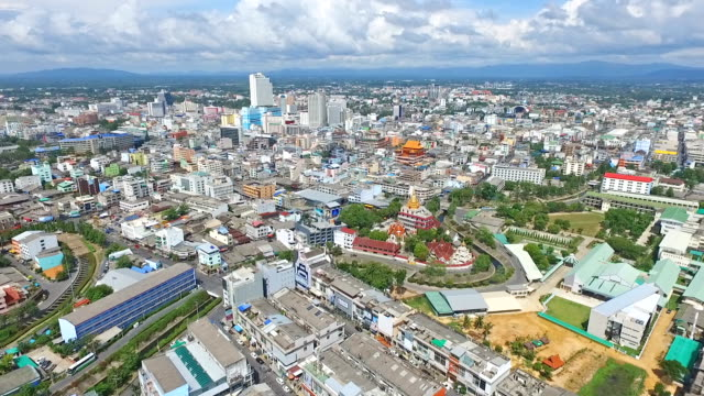 aerial view hat yai city, thailand - songkhla province stock videos and b-roll footage