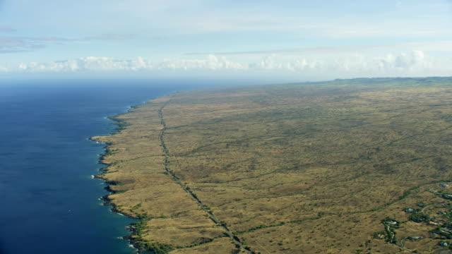 aerial view hawaiian shoreline residential communities hawaii america - tectonic stock videos & royalty-free footage