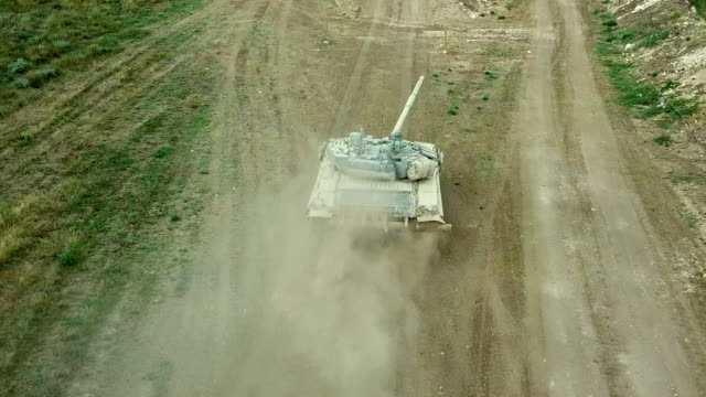 aerial view - heavy tank attack - armoured vehicle stock videos & royalty-free footage