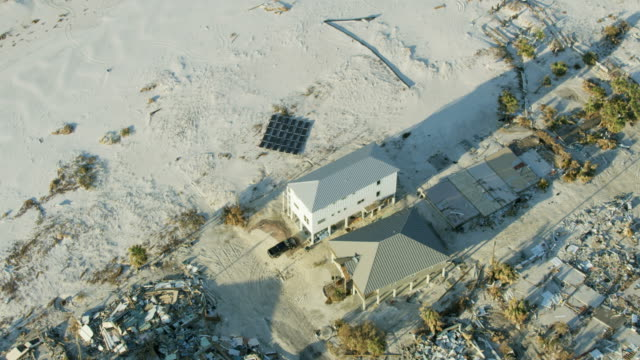 aerial view home not destroyed by hurricane florida - 2018 stock videos & royalty-free footage