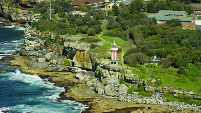 Aerial view Hornby Lighthouse and Watsons Bay Sydney