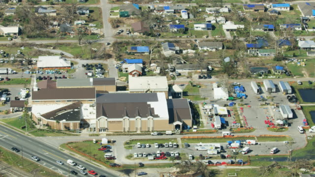 aerial view hurricane damaged property mexico beach florida - department of homeland security stock videos & royalty-free footage