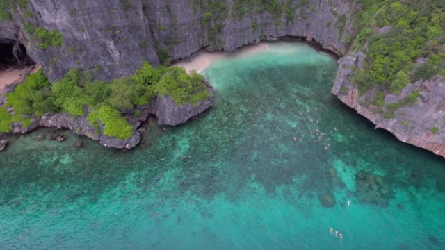 aerial view island and the beach - st. john virgin islands stock videos & royalty-free footage