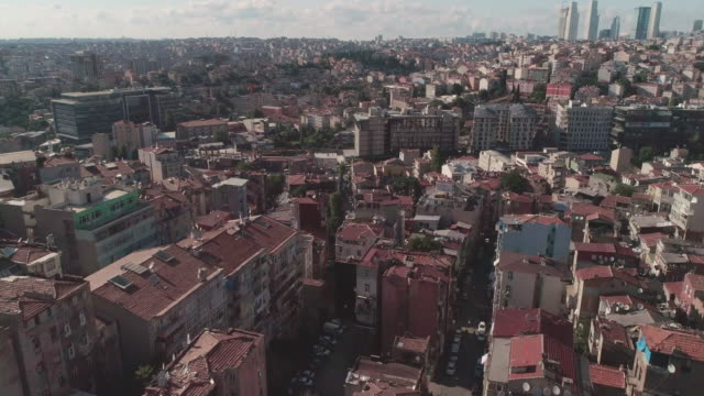 Aerial view Istanbul cityscape. Istanbul. Turkey.
