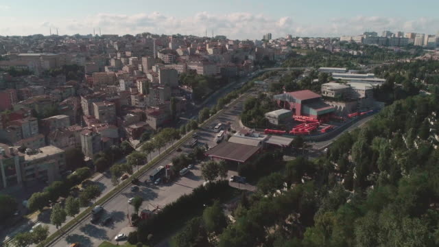 aerial view istanbul with local mosque and highway. istanbul. turkey. - ankara stock videos and b-roll footage