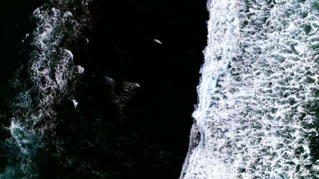 aerial view, karekare beach new zealand - black sand stock videos & royalty-free footage