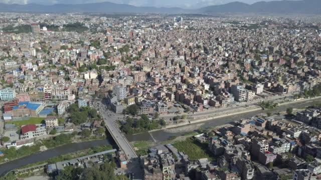 aerial view kathmandu, nepal - nepal stock videos & royalty-free footage