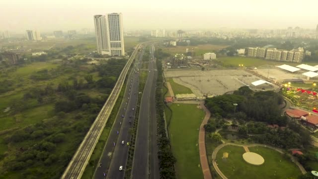 aerial view kolkata rajarhat - kolkata stock videos & royalty-free footage