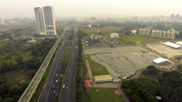 aerial view kolkata rajarhat - kolkata stock videos & royalty-free footage