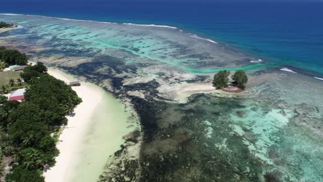 vídeos y material grabado en eventos de stock de aerial view, la digue island, seychelles, africa - seychelles