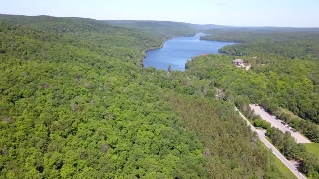 aerial view lake of gatineau  park ,quebec - gatineau stock videos & royalty-free footage