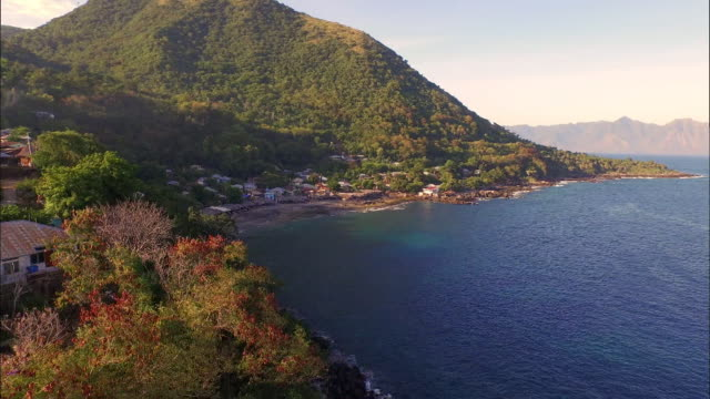 Aerial view Lamalera Village in Lembata Island